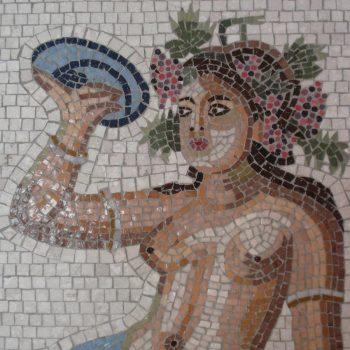 Mur en mosaïque à Chypre